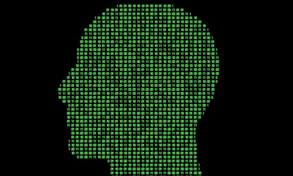 cerebro y código binario