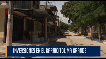 Dos calles del barrio Tolima Grande, le devuelven el buen aspecto al sector.