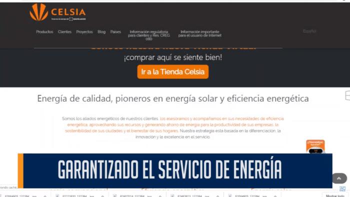 GARANTIZADO EL SERVCIO DE ENERGÍA