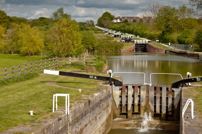 Caen Locks, Kennet and Avon Canal from bottom lock