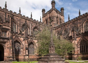 Chester Cathedral dating from the 11th century - reference books say 1092!