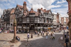 Junction of Eastgate Street and Bridge Street - the architecture is breathtaking and, itself, generates a feeling of history, inheritance, pride and joy for its visitors.
