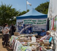 It can be tough manning a boat event bookstall.