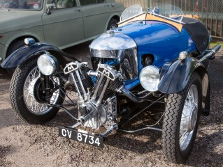 Morgan 2 cylinder 3 wheeler dating back to the 1940's
