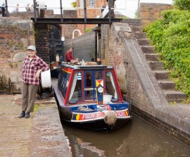 Leaving the middle lock and entering the lower one.