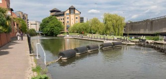 County Lock 106 in Reading from the west.