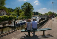 View south over Boulter's Lock at Maidenhead.