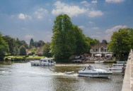 Cookham Bridge and The Ferry pub.