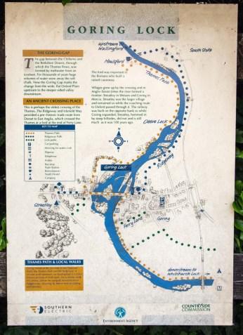 Map of Goring Lock area.