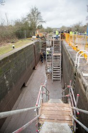 View over the lock from the south.