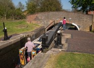 Minworth Bottom Lock and Cater's Bridge.