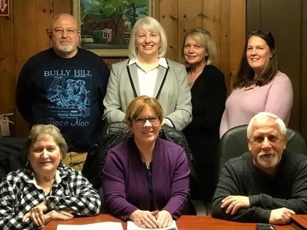 Bicentennial Planning Board Members. (Top left to right) Bill Fine, Jackie Smith, Patricia Galinski, Leslie Zink, (Lower left to right) Leanna Hale, Christa Filipowicz, Emilio Sebastian.