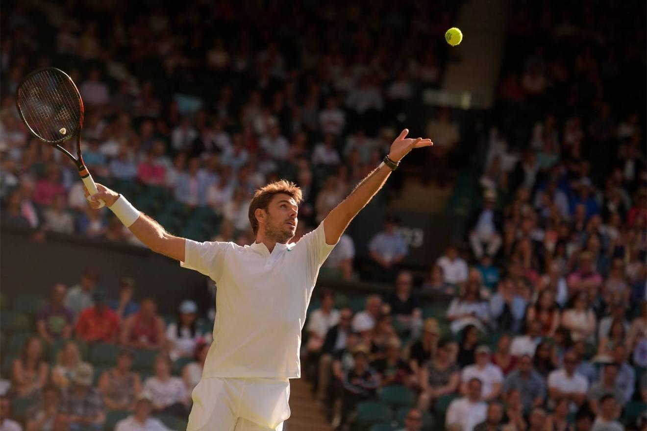 Wawrinka en su debut en Wimbledon 2017