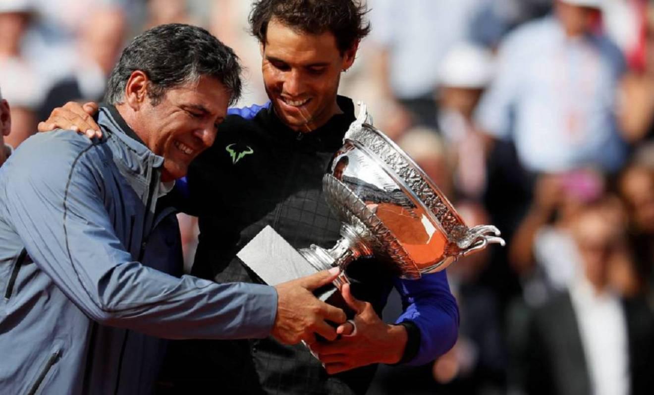 Rafa y Toni Nadal en RG