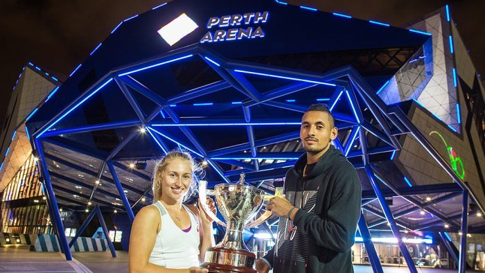 Kyrgios y Gavrilova trofeo Copa Hopman