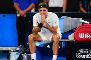 Federer emocionado en el Open Australia 2018