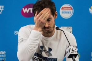 Andy Murray anuncia su retirada del Open de Australia 2018