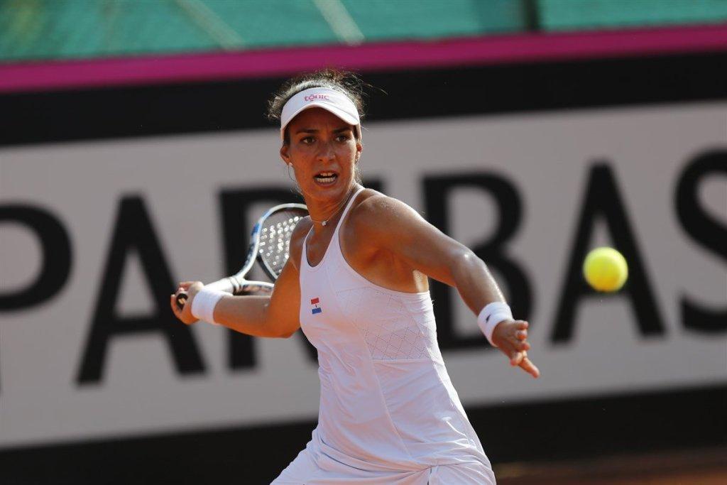 Verónica Cepede con Paraguay en la Fed Cup