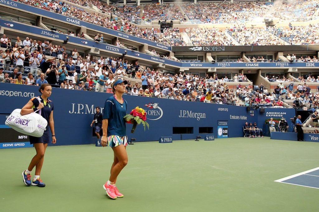 Francesca Fachin acompañando a Kerber en el US Open
