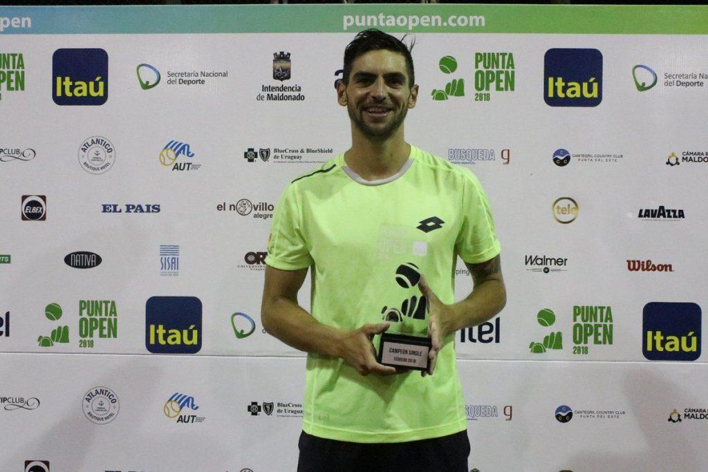 Andreozzi con el título del Challenger de Punta del Este