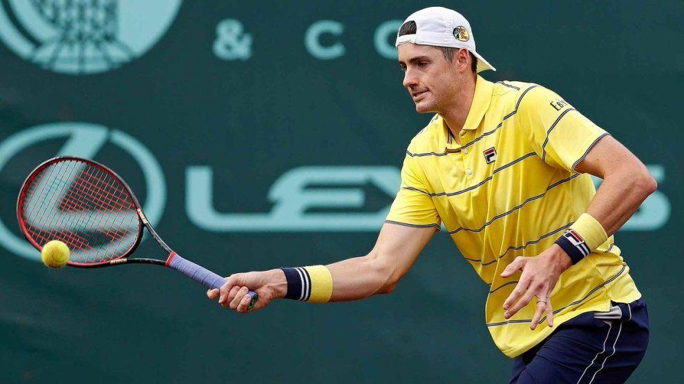 Isner golpea una derecha en el ATP de Houston