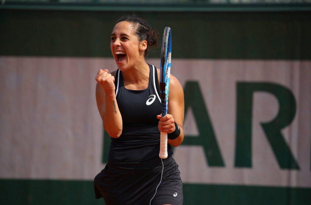 Martina Trevisan festeja en la previa de Roland Garros