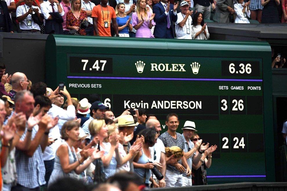 Marcador semifinal más larga Wimbledon 2018 Anderson e Isner