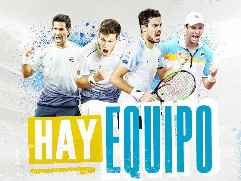Equipo Argentino de Copa Davis contra Colombia | Foto: @aatenis