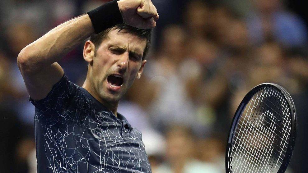 Novak Djokovic festeja su llegada a la final del US Open 2018 Foto: @ATPWorldTour_Es|