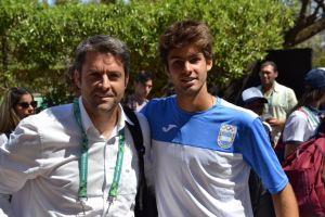 Agustín Calleri, presidente de AAT y Facundo Díaz Acosta Semifinalista en Buenos Aires 2018 | Foto: @AATenis