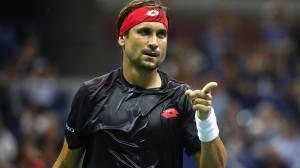 David Ferrer celebra un punto en el circuito ATP