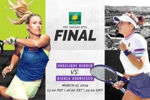 Andreescu y Kerber Indian Wells 2019
