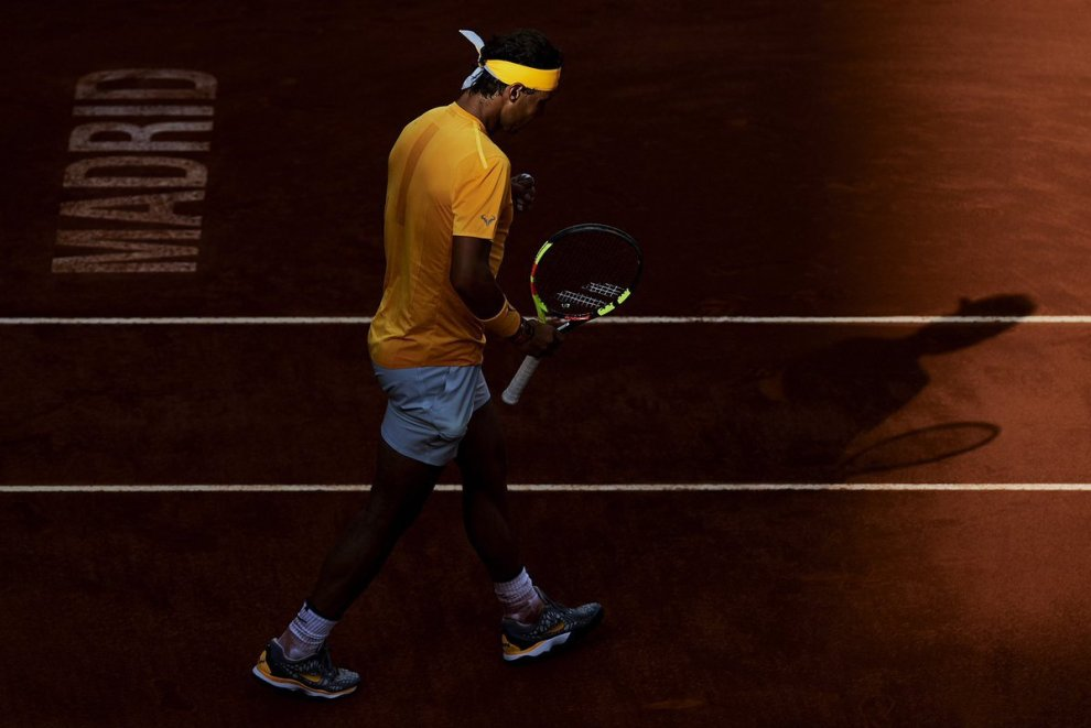 Rafael Nadal en el Mutua Madrid Open