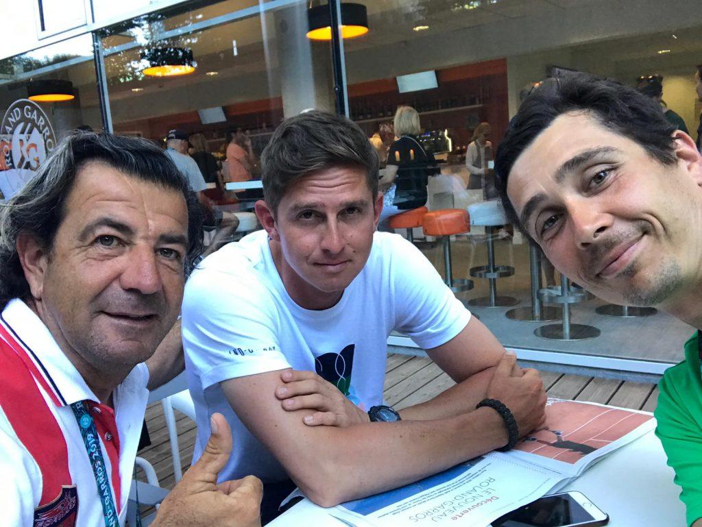 Sabadello, Andreev y Kunitsyn en Roland Garros