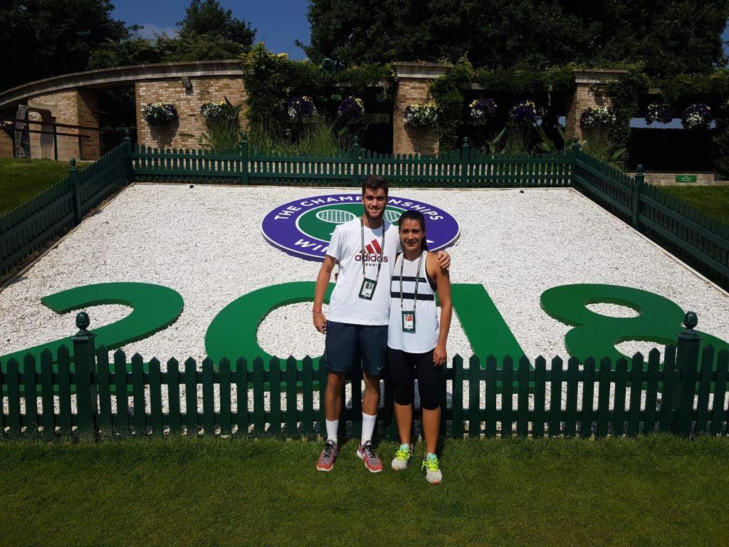 Verónica Cepede con Alejandro García Cenzano en Wimbledon 2018