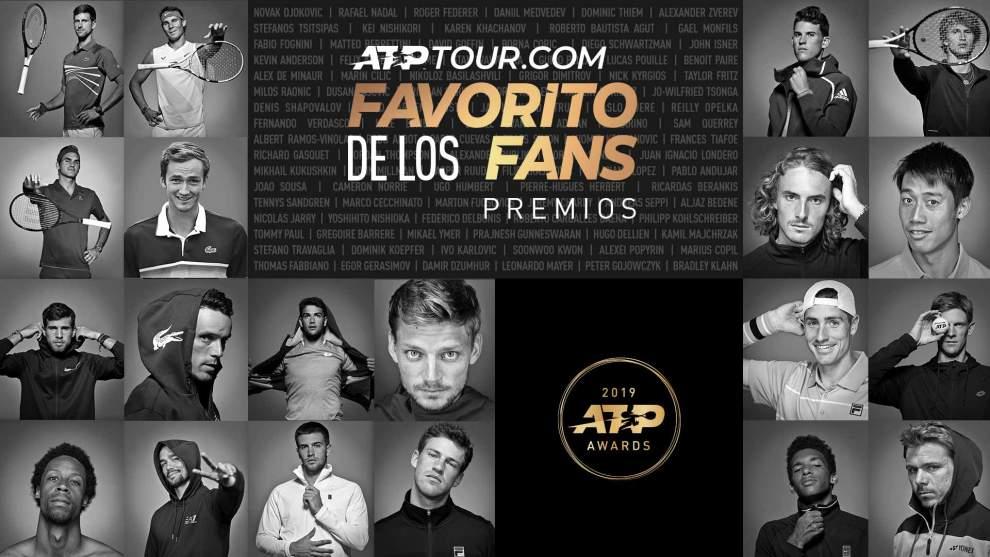 Nominados a los premios ATP 2019