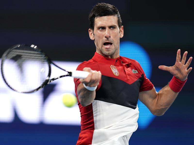 Djokovic Monfils ATP Cup 2020