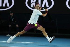 Federer Sandgren Australian Open 2020