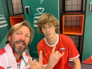 Fernando Vicente y Rblev Copa Davis Madrid