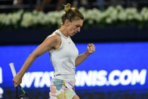 Halep Brady WTA Dubai 2020