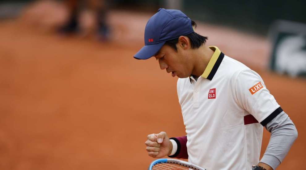 Nishikori Evans Roland Garros
