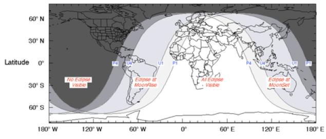 Eclipse lunar hora Colombia