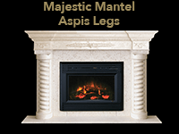 majestic mantel with aspis legs