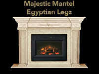 majestic mantel with egyptian legs