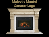majestic mantel with senator legs