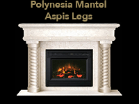 polynesian mantel with aspis legs