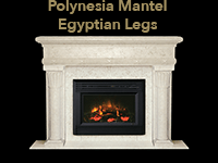 polynesian mantel with egyptian legs