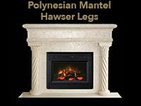 polynesian mantel with hawser legs