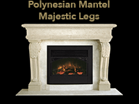 polynesian mantel with majestic legs