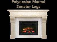 polynesian mantel with senator legs